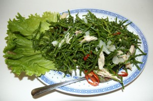 Sea Asparagus Salad with Shredded Chicken